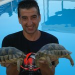 Savas and his pet tortoises