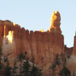 View of hoodoos in early morning light