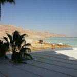 Image from our hotel room of mountains and Dead Sea