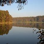 The beautiful reservoir at Luwawa