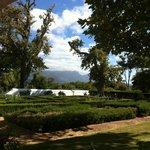 Blick von der Terrasse auf die Rückseite vom Tafelberg