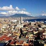 Vesuvius and city