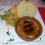Crème au foie gras avec tuile de parmessan