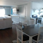 Penthouse dining area and fully equipped kitchen