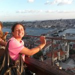 This is Galata Tower Esen Hotel is other side of water