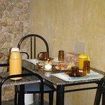 Café da manhã servido no chalé Tangará
