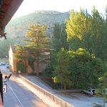 Раннее утро, вид с балкона