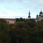 Вид из панорамного окна апартаментов на Каарли 8