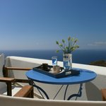 the deep blue with coffe morning