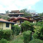 Vista de los bungalows en el morro