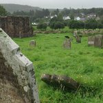 Friary Graveyard, Ballycastle beyond the trees