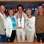 Elvis helps us celebrate my Sis' & Brother-in-law's 50th Wedding Anniversary