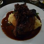 Rump of lamb with potato & parsnip mash - lovely