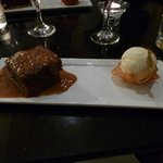 The best sticky toffee pudding with yummy vanilla ice-cream