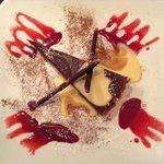 Yummy Baileys Chocolate Torte with Vanilla Sauce :)