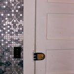 old lock on bathroom door
