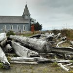 Driftwood and Historic Church