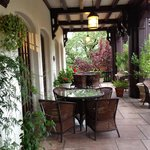 Lovely patio by the entrance