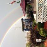 Beautiful rainbow and Great Food!