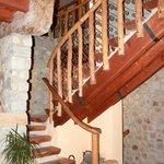 La scalinata che conduce alle camere!!!