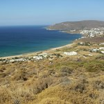 panoramic view to the ceach of Agios Petros
