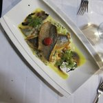 Sea Bass with Leek Risotto