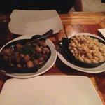 Sauteed Mushrooms and Mac and Cheese - yum!