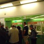 Guiche automático, comprando entrada do metrõ