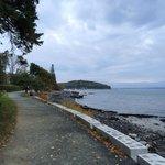Shore Path looking back toward Bar Harbor