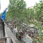 La Rambla from our balconey