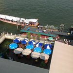 Ferry wharf and restaurant