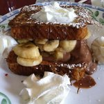 special-chocolate banana stuffed french toast