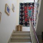 Escada para os quartos