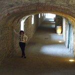 Medieval, under castle walkway with shops & restaurants