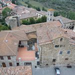 View of Castelina from atop the castle. On a clear day you can see the ocean!