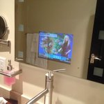 tv in bathroom mirror