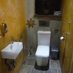 very clean toilet