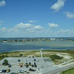 View from our hotel room (Sabine Bay)
