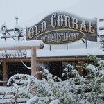 Snowy day at The Old Corral Hotel
