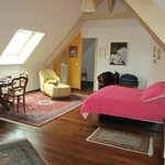 the spacious upstairs bedroom
