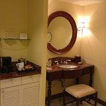 Vanity and Bar in Bathroom