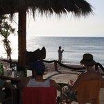 Nearby beach bar