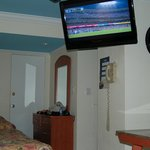 Watching the Dodgers play in our room