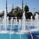 Blue Mosque just a few blocks away