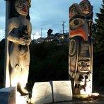 Totem poles in White Rock