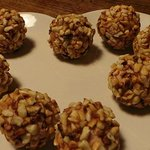 Pate in a crust of hazelnuts
