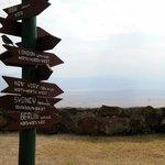 Aussicht in den Krater