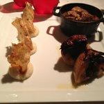 Porc au cidre, purée de céleri et boudin noir