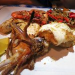 Mix seafood grill