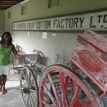 Cotton factory sign at Museum